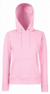 Dames hoodie Pink light