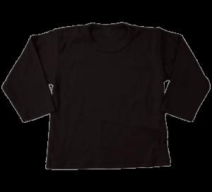 T-shirt lange mouw zwart