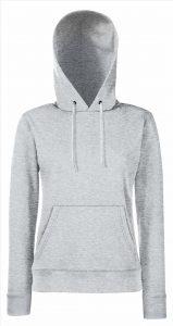 Dames hoodie heater grey