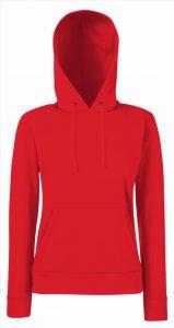 Dames hoodie rood
