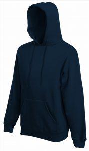 Heren hoodie navy blue