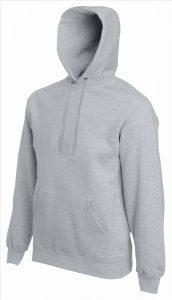 Heren hoodie heater grey