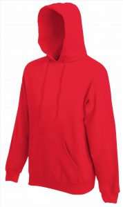 Heren hoodie rood
