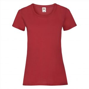 Dames t-shirt rood